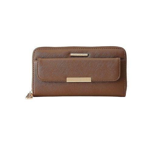 Diana Korr brown leatherette clutch