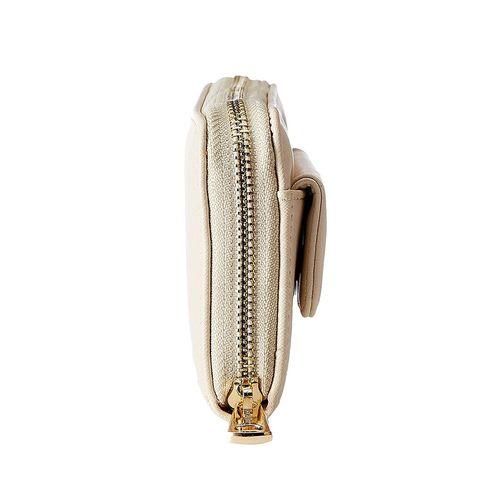 Diana Korr beige leatherette clutch