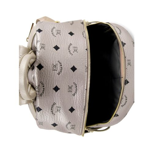 Diana Korr silver leatherette backpack