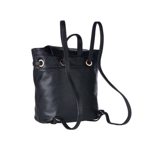 Diana Korr black leatherette (pu) regular backpack