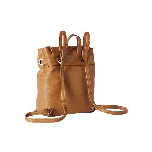 Diana Korr brown leatherette backpack