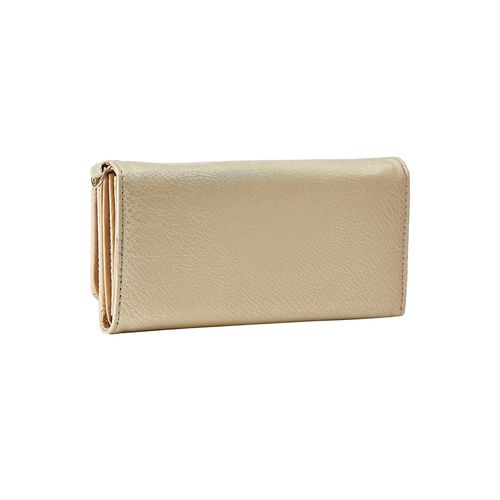 Diana Korr gold leatherette wallet
