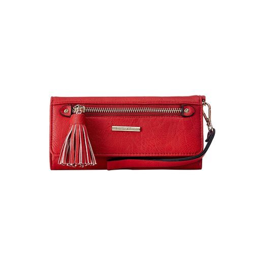 Diana Korr red leatherette wallet