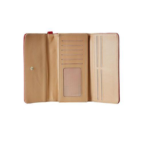 Diana Korr red leatherette wallet