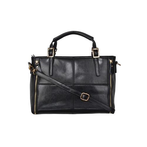 Fiona Trends black leatherette handbag