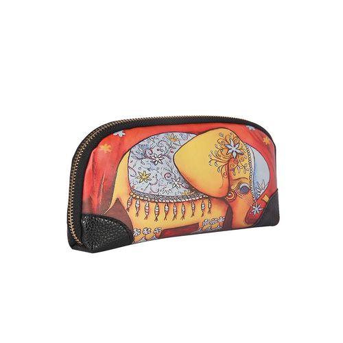 Fiona Trends multi colored leatherette regular clutch