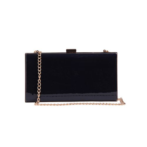 Fiona Trends blue leatherette clutch