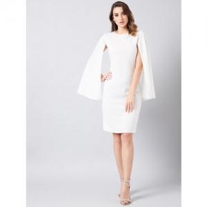 Athena Women White Solid Sheath Dress