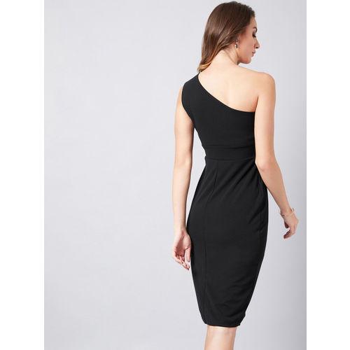 Athena Women Black Solid Sheath Dress