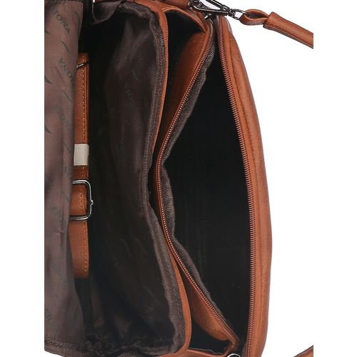 Fiona Trends brown leatherette regular sling bag