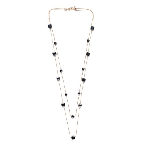 Glam Story black gold plated chain