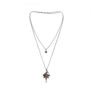 Winni silver metal statement necklace
