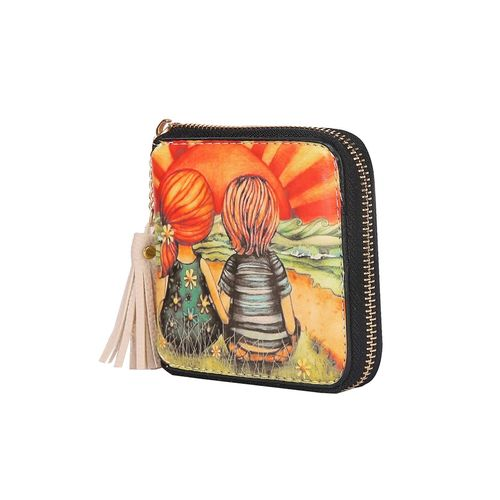 Fiona Trends multi colored leatherette wallet