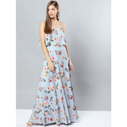 Harpa Women Grey Printed Maxi Dress