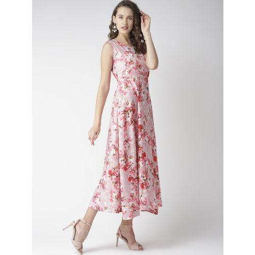 U&F Women Pink Floral Print Maxi Dress