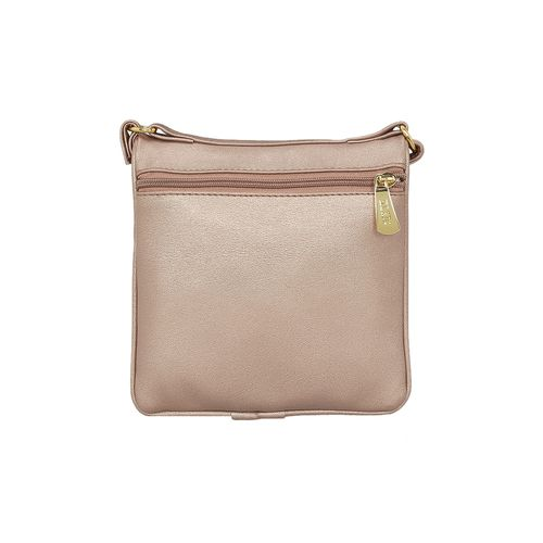 Kleio pink leatherette (pu) regular sling bag