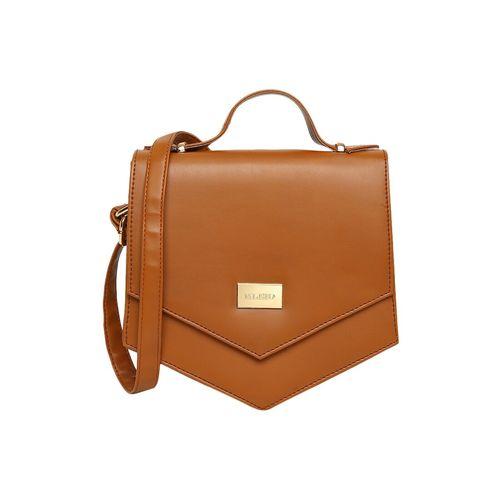 Kleio brown leatherette regular sling bag