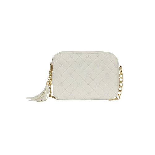 Kleio white leatherette regular sling bag