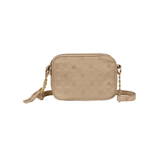 Kleio beige leatherette regular sling bag