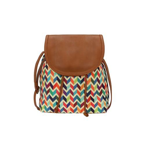 Kleio multi colored canvas regular sling bag