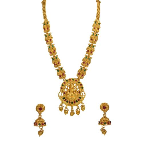 RAJKANYA gold metal long necklaces