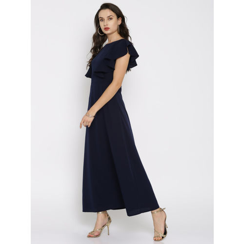 RARE Women Blue Solid Maxi Dress