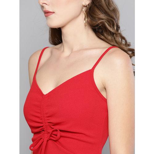 Veni Vidi Vici Women Red Solid Bodycon Dress