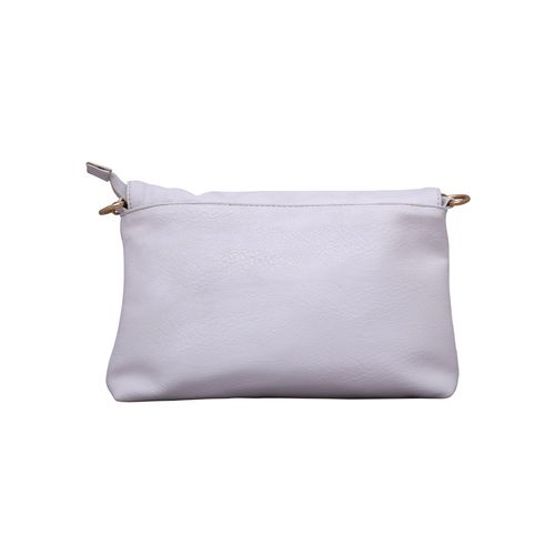 Kleio white leatherette sling bag