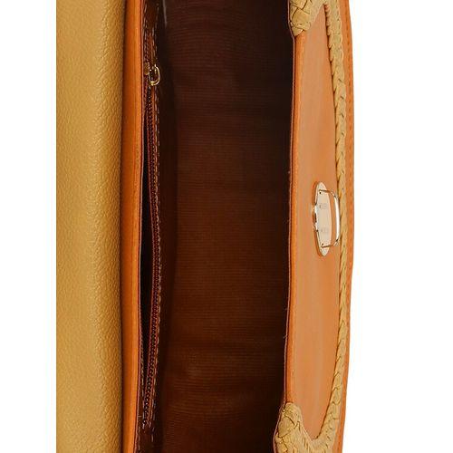 Kleio tan leatherette (pu) regular sling bag