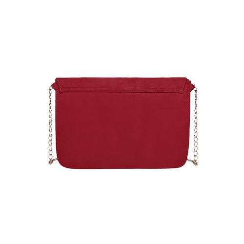 Kleio red canvas sling bag