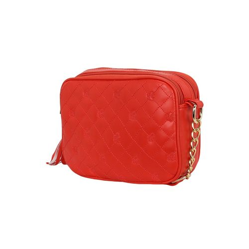 Kleio red leatherette regular sling bag