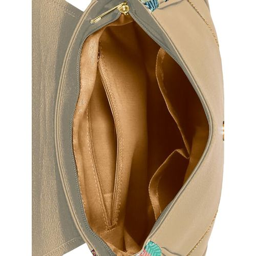 Kleio beige leatherette (pu) regular sling bag