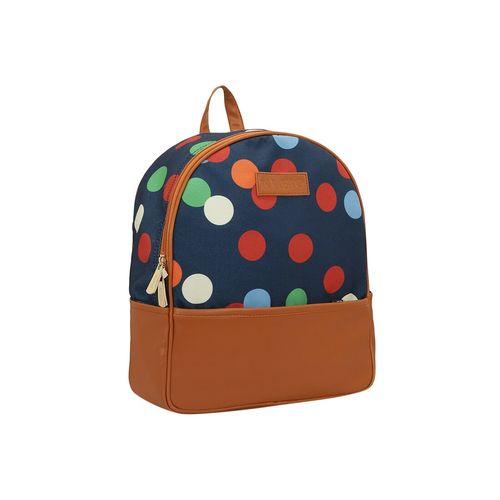 Kleio blue canvas regular backpack