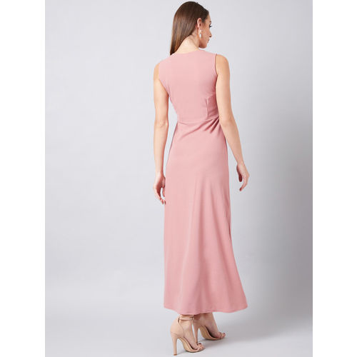 Athena Women Embellished Pink Maxi Dress