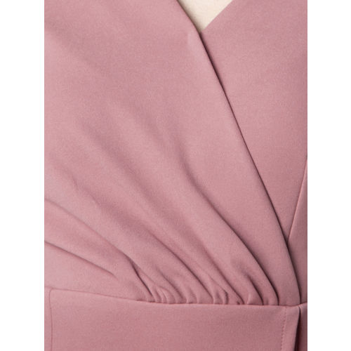 FabAlley Women Pink Solid Wrap Dress