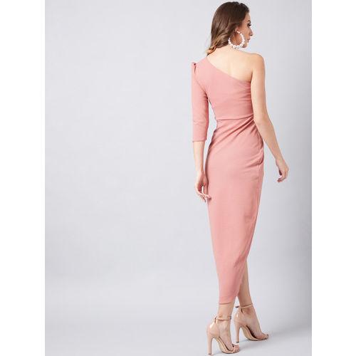 Athena Women Pink Solid Sheath Dress