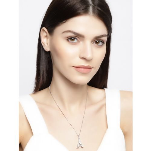 Jewels Galaxy silver tone metal pendant
