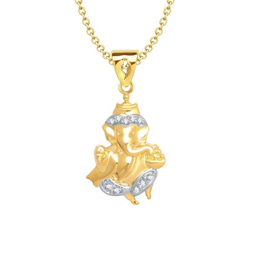 VK Jewels gold metal pendant