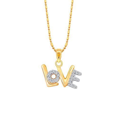 Vighnaharta gold metal pendant