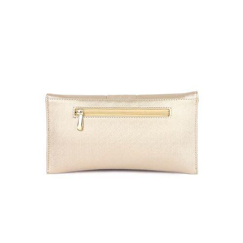 Kleio beige leatherette envelope clutch