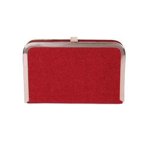 Kleio red synthetic box clutch