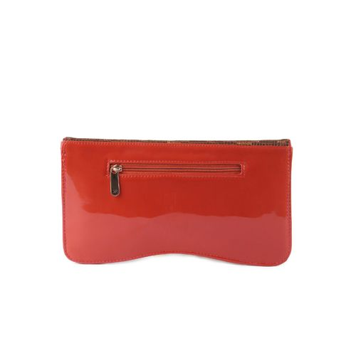 Kleio red leatherette clutch