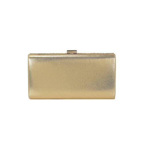 Kleio gold metal clutch