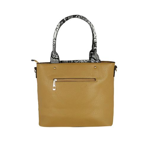 Kleio yellow leatherette handbag