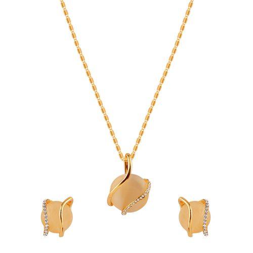 Silver Shine gold metal pendant