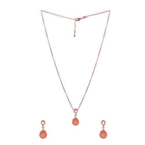 Silver Shine gold metal pendant and earrings