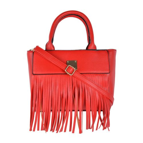 Kleio red leatherette handbag with sling