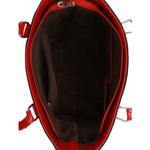 Kleio red leatherette handbag