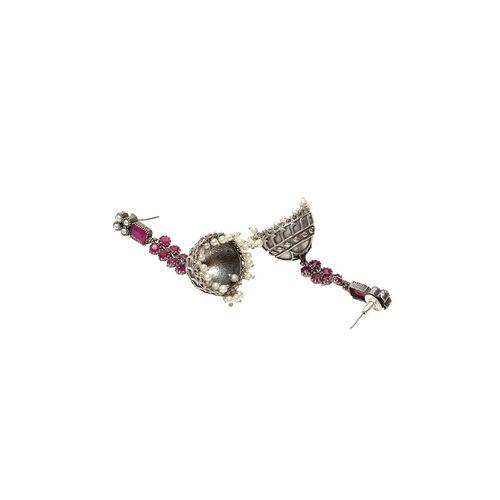 Panash pink brass jhumka earring