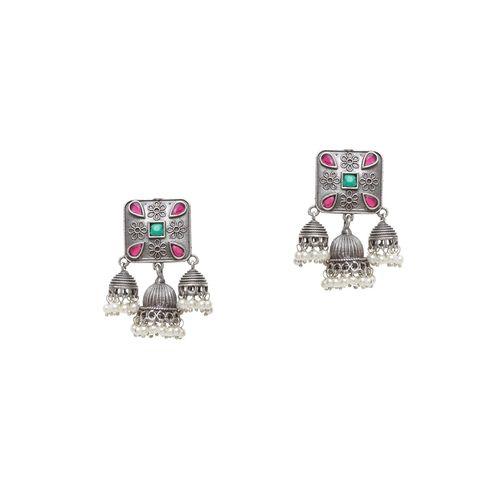 Panash silver brass jhumka earring